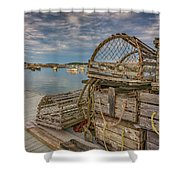 Nick's Dock Too Shower Curtain