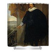 Nicolaes Van Der Borght, Merchant Of Antwerp Shower Curtain