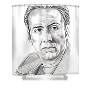 Nicolas Cage Shower Curtain by Murphy Elliott