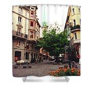 Niederdorf Square In Zurich Switzerland Shower Curtain