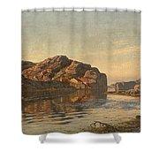 Nielsen, Amaldus Clarin 1838-1932 Morning, Ny-hellesund 1909 Shower Curtain