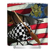 Nieuport 28c Bucking Mule Shower Curtain