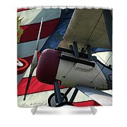 Nieuport 28c Hat In The Ring Shower Curtain
