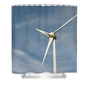 Nieuwpoort Belgium Wind Turbines. Shower Curtain