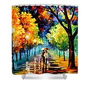 Night Alley Shower Curtain