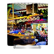 Night At Bar Shower Curtain