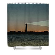 Night At Cape May Lighthouse Shower Curtain