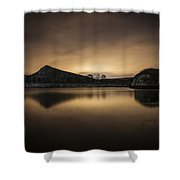 Night At Cawfields Shower Curtain