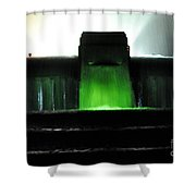 Night At Mulholland Fountain Shower Curtain