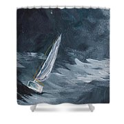 Night At Sea Shower Curtain