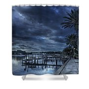Night At The Bayou Shower Curtain