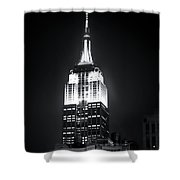 Night At The Empire State Building Shower Curtain