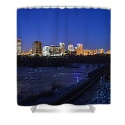 Night At The Floodwall 2 Shower Curtain