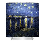 Night At The Lake Shower Curtain