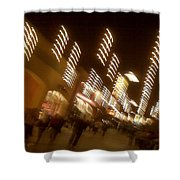 Night At The Mall Shower Curtain by Ben and Raisa Gertsberg