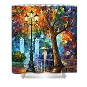 Night Aura Shower Curtain