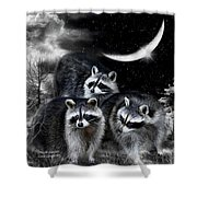 Night Bandits Shower Curtain