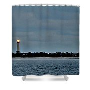 Night Beacon - Cape May Lighthouse Shower Curtain