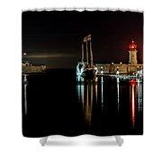 Night Boat Shower Curtain