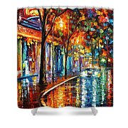 Night Cafe Shower Curtain