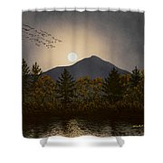 Night Calls Shower Curtain