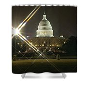 Night Capitol Shower Curtain