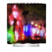 Night City Lights Shower Curtain