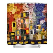Night City Shower Curtain by Michelle Calkins