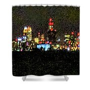Night Cleveland Shower Curtain