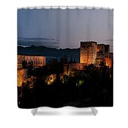 Night Comes To The Alhambra Shower Curtain