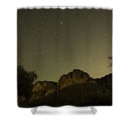 Night Crags Shower Curtain