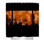 Night Dance Shower Curtain