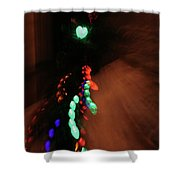 Night Diptych 1 Shower Curtain