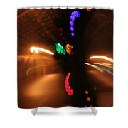 Night Diptych 2 Shower Curtain