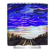 Night Drives #2 Shower Curtain