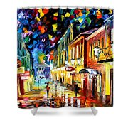 Night Etude - Palette Knife Oil Painting On Canvas By Leonid Afremov Shower Curtain