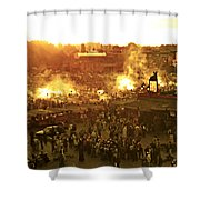 Night Falls On Jemaa El Fna Morocco Shower Curtain