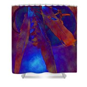 Night Feathers   -019 Shower Curtain