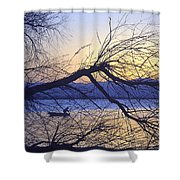 Night Fishing In Barr Lake Colorado Shower Curtain