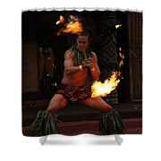 Night Flames Shower Curtain