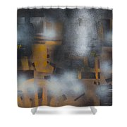 Night Flashes Shower Curtain