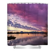 Night Gives Way To Dawn Shower Curtain