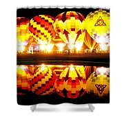 Night Glow At The Pond Shower Curtain