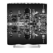 Night Grooves Shower Curtain