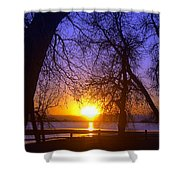 Night In Barr Lake Colorado Shower Curtain