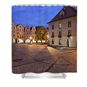 Night In City Of Jelenia Gora In Poland Shower Curtain