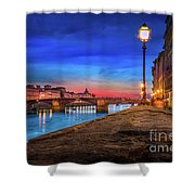 Night In Florence Italy Shower Curtain