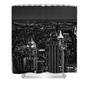 Night In Manhattan Shower Curtain
