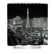 night in Vegas Shower Curtain