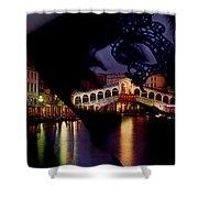Night In Venice Shower Curtain